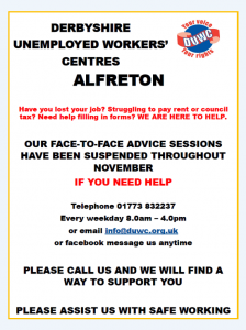 Derbyshire Unemployed Workers Centre poster